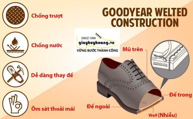 Cách may đế giày da goodyear welted thủ công handmade