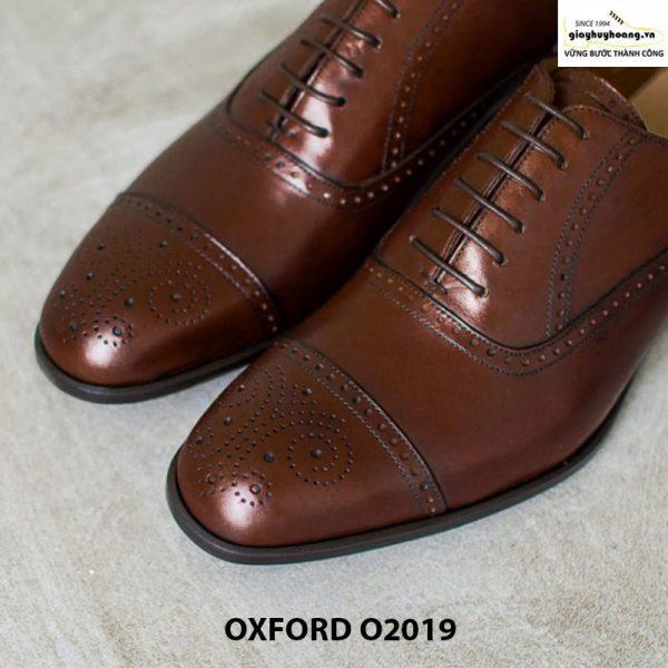 Giày tây da bò huy hoàng O2019 mịn đẹp cao cấp 001