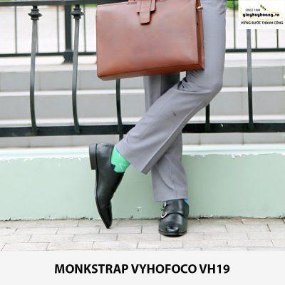 Bán Giày nam double monkstrap vyhofoco VH19 chính hãng chất lượng 006
