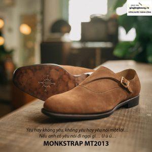 Giày tây nam Monkstrap da lộn MT2013 006