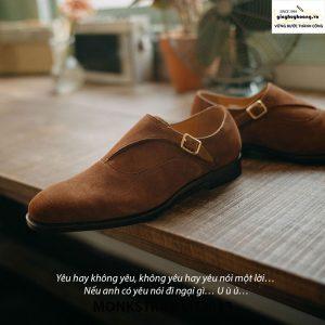 Giày tây nam Monkstrap da lộn MT2013 003