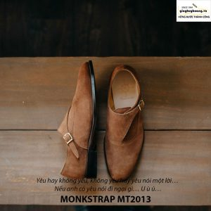 Giày tây nam Monkstrap da lộn MT2013 001