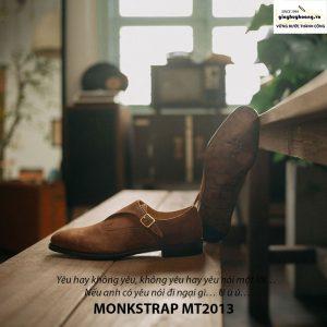 Giày tây nam Monkstrap da lộn MT2013 002