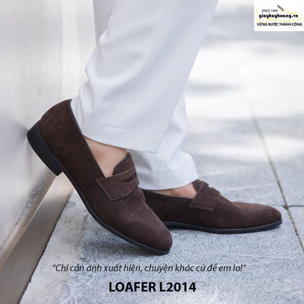 Giày lười da lộn nam đẹp Penny Loafer L2014 006