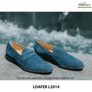 Giày lười da lộn nam đẹp Penny Loafer L2014 001