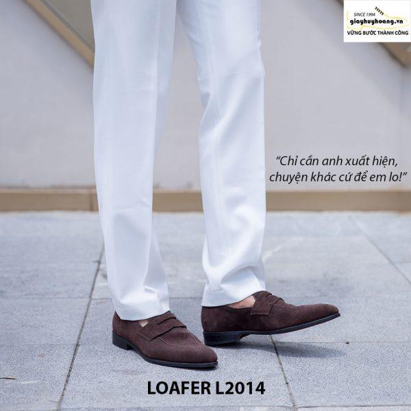 Giày lười da lộn nam đẹp Penny Loafer L2014 003