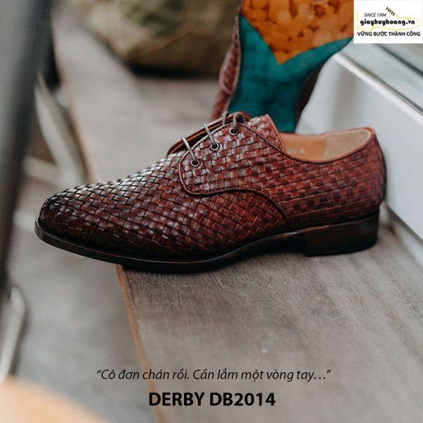 Giày tây nam cột dây đan xen Derby DB2014 004
