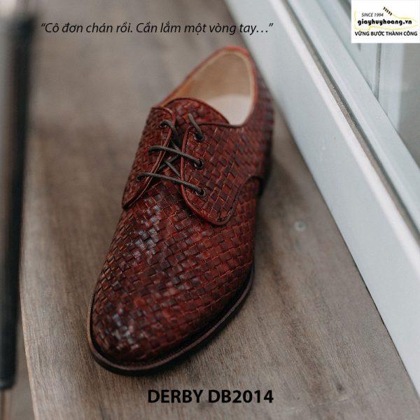 Giày tây nam cột dây đan xen Derby DB2014 002