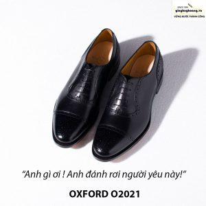 Giày tây da nam buộc dây Oxford Brogues O2021 008