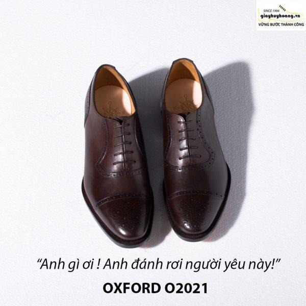 Giày tây da nam buộc dây Oxford Brogues O2021 007