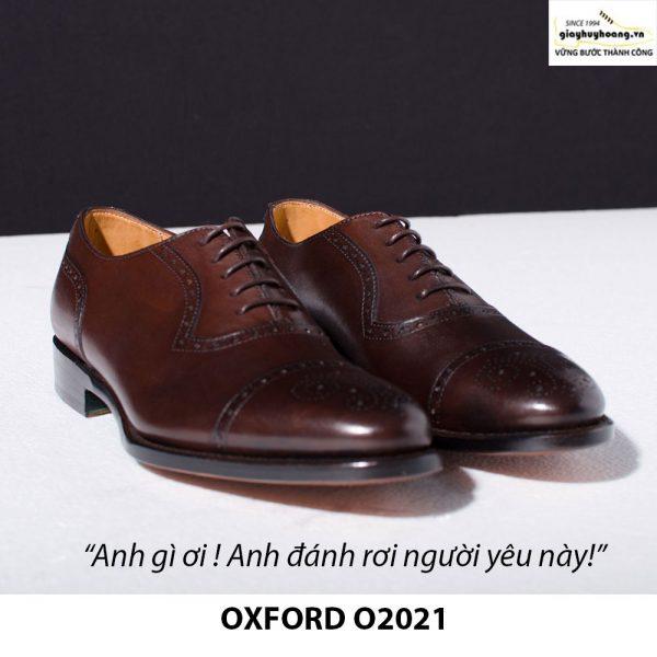Giày tây da nam buộc dây Oxford Brogues O2021 001