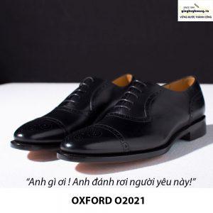 Giày tây da nam buộc dây Oxford Brogues O2021 006