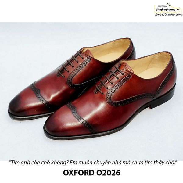 Giày Oxford nam da xịn O2026 006