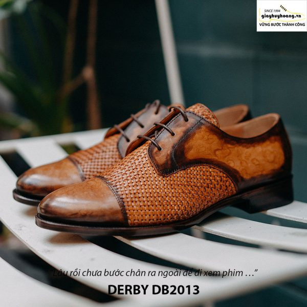 Giày tây nam cột dây đẹp Derby DB2013 004