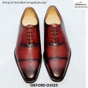 Giày tây Oxford đế da bò O2025 001