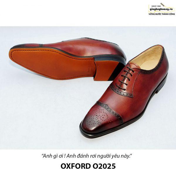 Giày tây Oxford đế da bò O2025 003