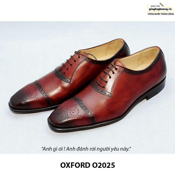 Giày tây Oxford đế da bò O2025 002