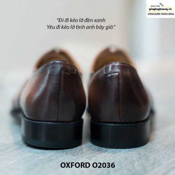 Giày Oxford Captoe Brogues đế da O2036 005