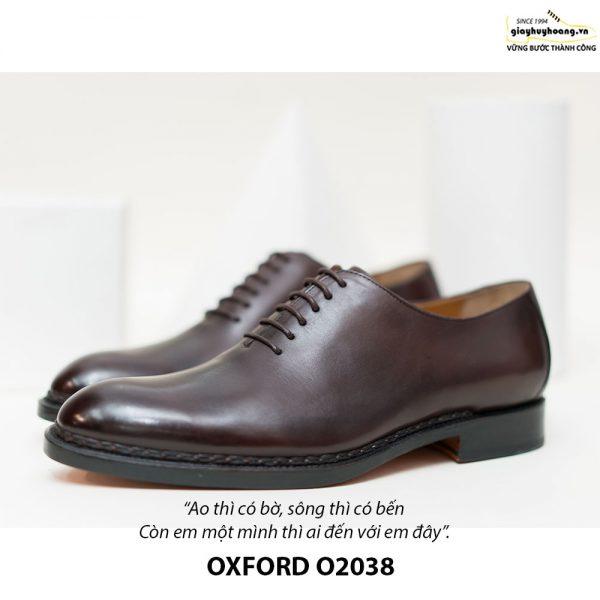 Giày tây Oxford Wholecut đơn giản O2038 005