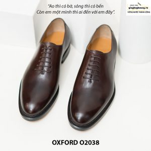 Giày tây Oxford Wholecut đơn giản O2038 004