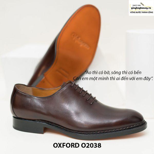 Giày tây Oxford Wholecut đơn giản O2038 003
