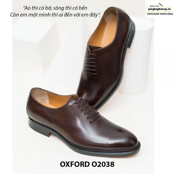 Giày tây Oxford Wholecut đơn giản O2038 002
