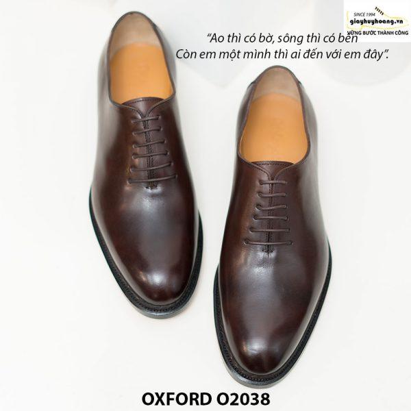 Giày tây Oxford Wholecut đơn giản O2038 001