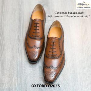Giày da Oxford Wingtip buộc dây chính hãng O2035 006