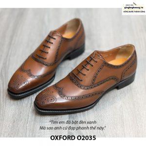 Giày da Oxford Wingtip buộc dây chính hãng O2035 001