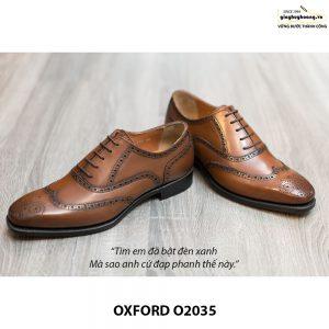 Giày da Oxford Wingtip buộc dây chính hãng O2035 004
