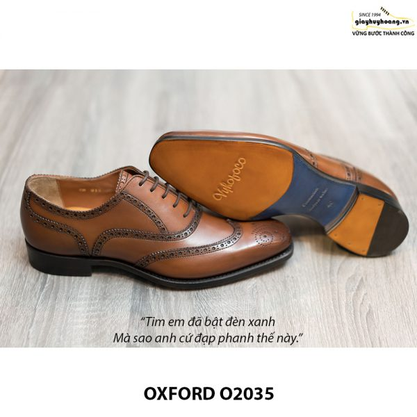 Giày da Oxford Wingtip buộc dây chính hãng O2035 003
