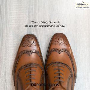 Giày da Oxford Wingtip buộc dây chính hãng O2035 002