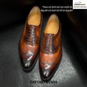 Giày tây nam Oxford Wingtip cao cấp O2039 001