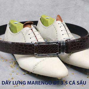 Dây nịt thắt lưng nam da cá sấu Marengo 004