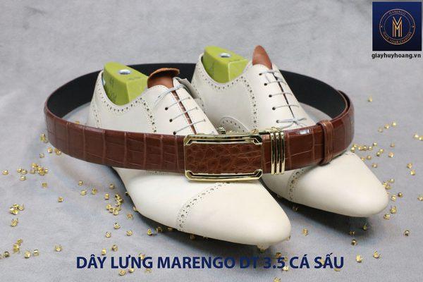 Dây nịt thắt lưng nam da cá sấu Marengo 003
