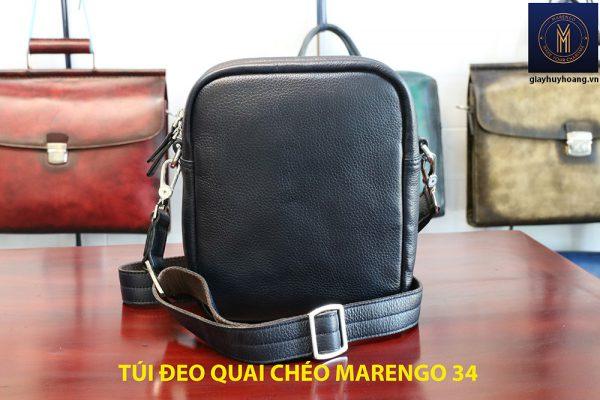 Túi đeo vai chéo da bò nam chính hãng Marengo 34 003