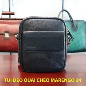 Túi đeo vai chéo da bò nam chính hãng Marengo 34 001