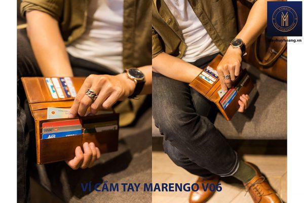 Ví cầm tay dài nam Marengo V06 nhiều ngăn 004