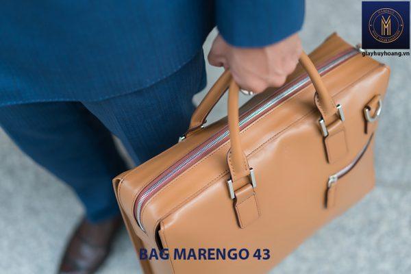 Cặp xách da bò nam cao cấp Marengo 43 002