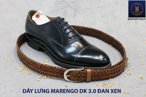 Dây nịt thắt lưng nam da đan xen Marengo 3-3.5cm 010