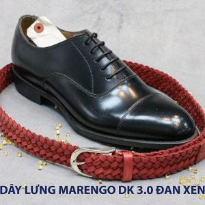Dây nịt thắt lưng nam da đan xen Marengo 3-3.5cm 008
