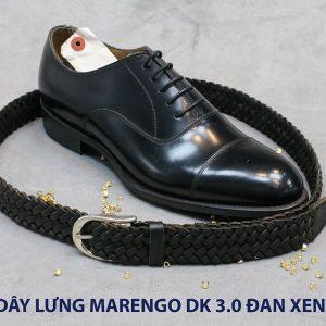 Dây nịt thắt lưng nam da đan xen Marengo 3-3.5cm 006