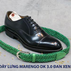 Dây nịt thắt lưng nam da đan xen Marengo 3-3.5cm 005