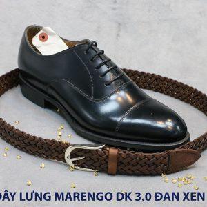Dây nịt thắt lưng nam da đan xen Marengo 3-3.5cm 004