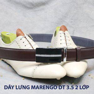 bán dây nịt thắt lưng nam 2 lớp da bò cao cấp Marengo 0016