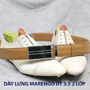 bán dây nịt thắt lưng nam 2 lớp da bò cao cấp Marengo 0015