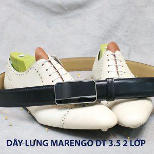 bán dây nịt thắt lưng nam 2 lớp da bò cao cấp Marengo 0014