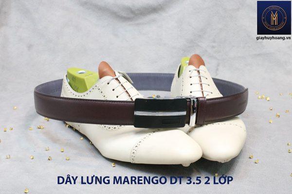 bán dây nịt thắt lưng nam 2 lớp da bò cao cấp Marengo 0012