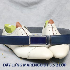 bán dây nịt thắt lưng nam 2 lớp da bò cao cấp Marengo 0011