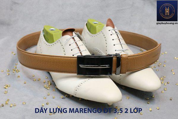 bán dây nịt thắt lưng nam 2 lớp da bò cao cấp Marengo 007